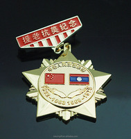 Folk art style custom metal soft enamel flag pin badge