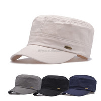 High quality solid color army cap 100% cotton army style cap military style hat baseball cap