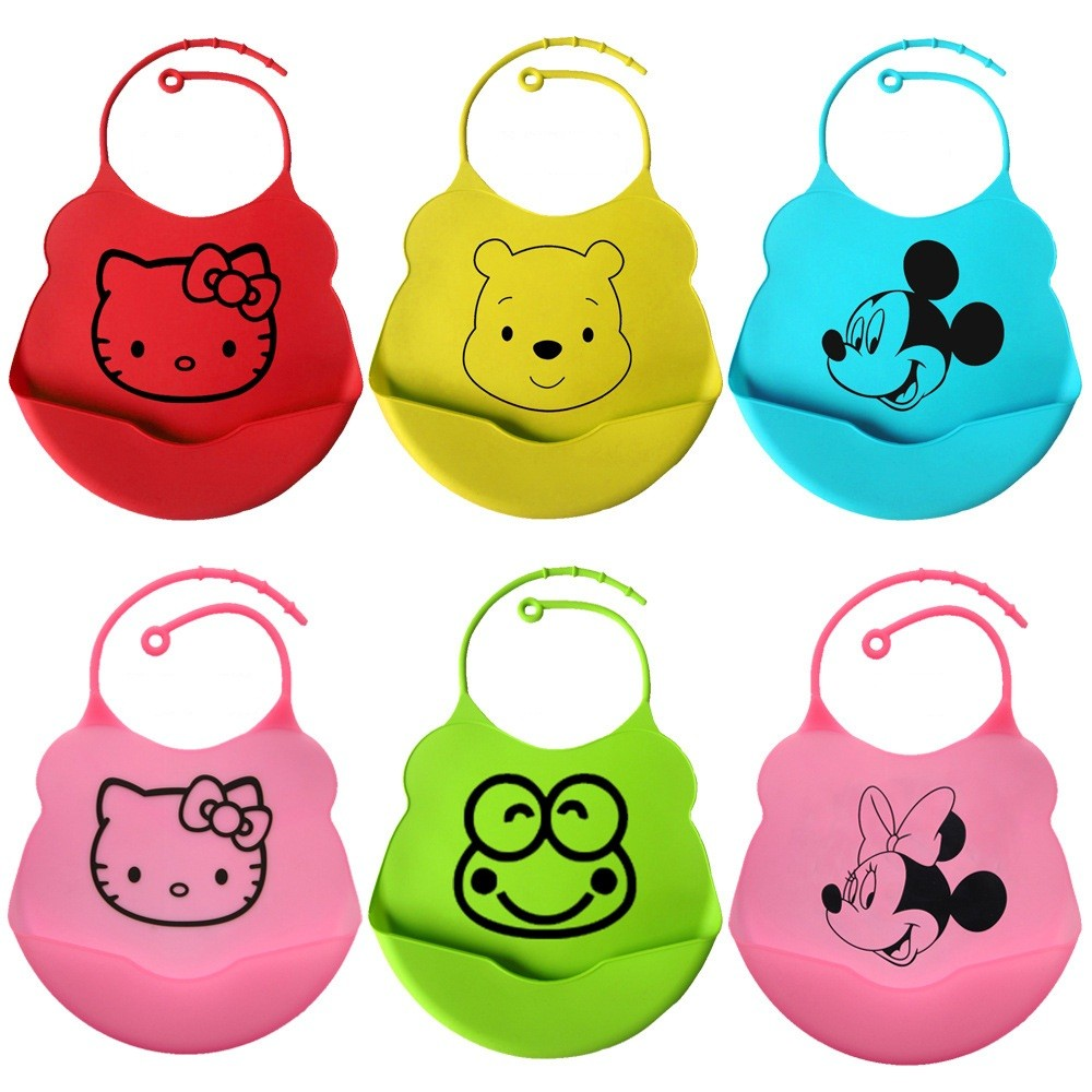 Hot sale high quality soft and waterproof silicone customized baby bib