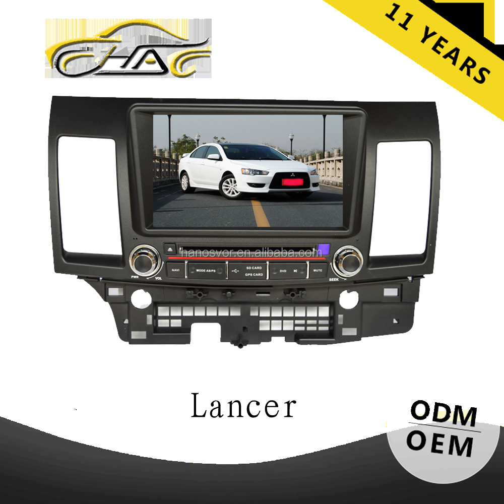 wince 6.0 system dvd car audio navigation in-dash dvd player for mitsubishi lancer