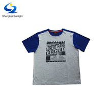 Standard Election Cotton Round Collar Screen Printed Short Sleeve T-Shirts For Men