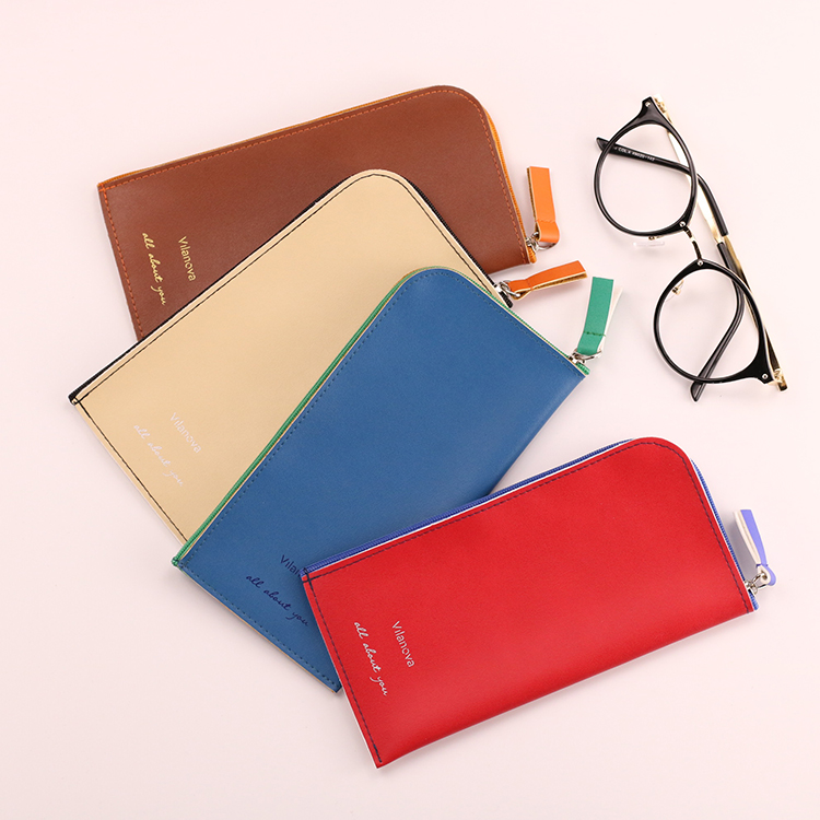 Top fashion custom design mini cute zipper super quality glasses packaging rubber bag