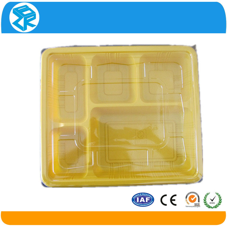 disposable plastic pack pp 5 compartment microwave food container