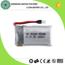 902540 25C Rechargeable 3.7V 850mAh Lipo Battery Cell for Model Airplane