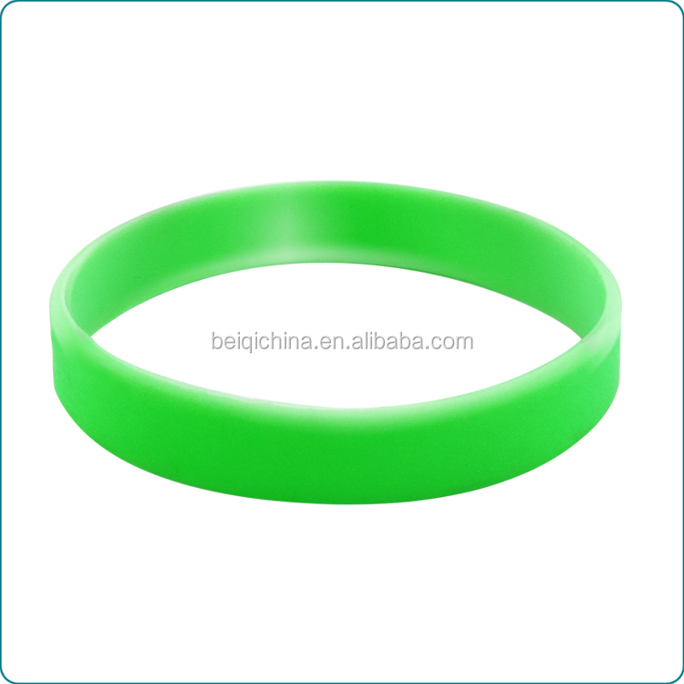 Customised lemon green blank silicone wristband
