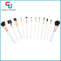 12PC Cosmetic Brush Set Synthetic Hair Makeup Brush Set White Handle Makeup Brushes