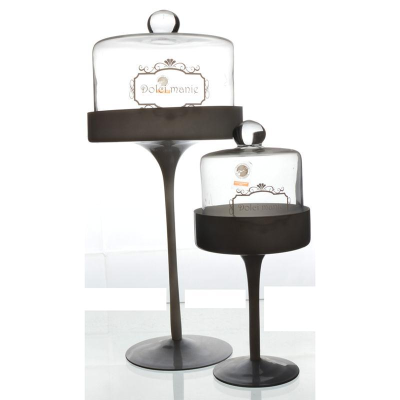 15-inch Glass Cupcakes & Pastry Stand with Dome - Stand Centerpiece