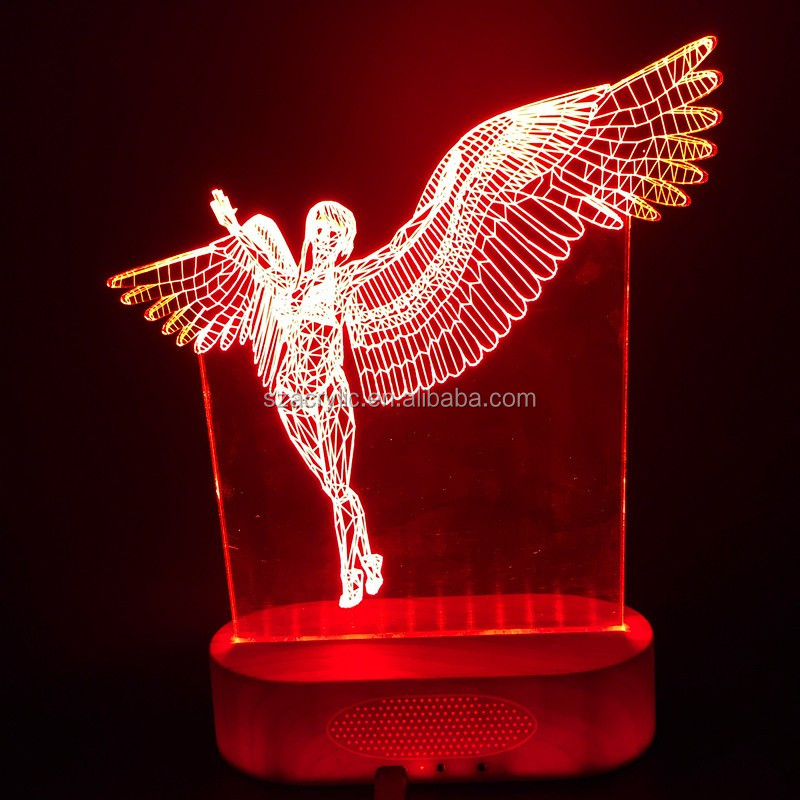 3D illusion night light chirstmas tree home decoration desk lamp