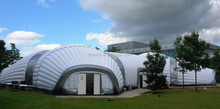 Big outdoor inflatable dome tent for exhibition event
