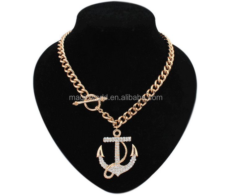 Minimalism Pendant Crystal Chain Necklace