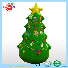 2017 Hot sale inflatable christmas santa claus decoration, ,inflatable artificial christmas trees for sale