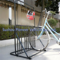 assembly coat helmet hanger bike stand