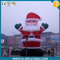 Hot sale Christmas advertising balloon/inflatable christmas santa claus