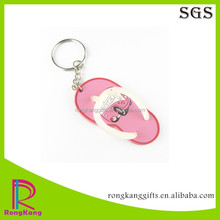 shoes shaped 3d soft pvc keychain