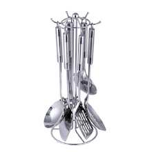 Best Selling 7 pcs stainless steel cooking tool sets chinese kitchen ware set