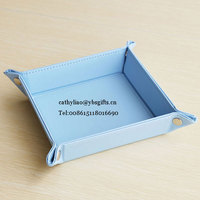 Wholesale Office Desk PU Leather Sundries Storage Tray