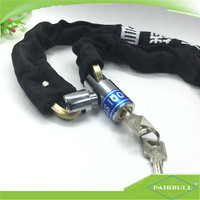 Hardened lock security chain for car atomic with cloth chain lock