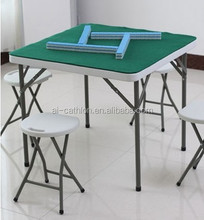 Blow mold chinese square folding outdoor dining mahjong table sale