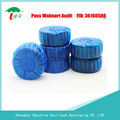 toilet bowl solid detergent blue bubble tablet water flush cleaner