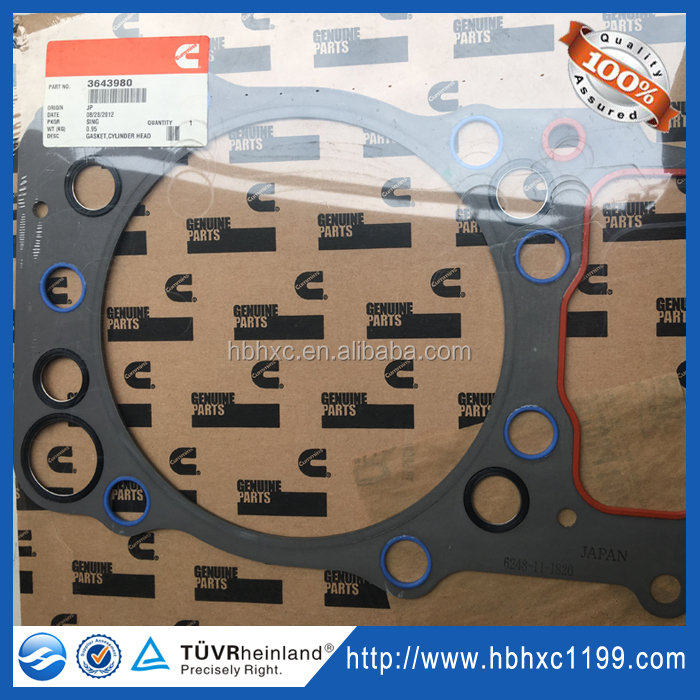 Genuine Excavator Parts For Komatsu QSK Engine Cylinder Head Gasket 6248-11-1820