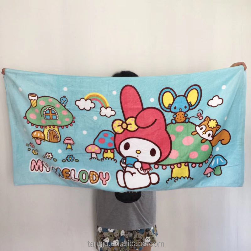China suppliers 100cotton beach towel rich color cartoon design japanese products