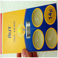 10 candles in a paper card packaging tea light candles