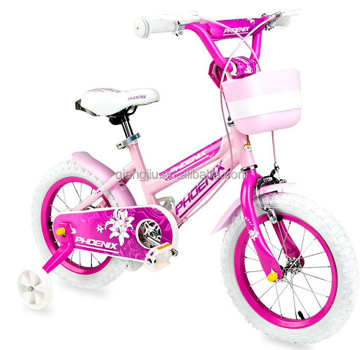 New design factory sale 12 14 16 licensed cute pink kids bike for girl