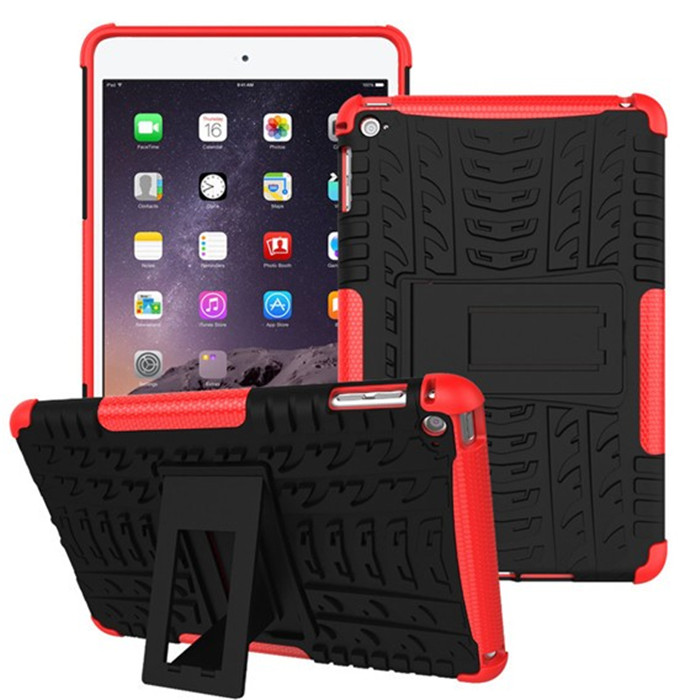 High Quality Armor Rugged Heavy duty Hybrid Kickstand 2 in 1 case for IPAD MINI 4