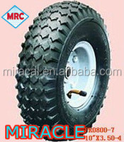 High quality 350-4 solid rubber spoke wheels