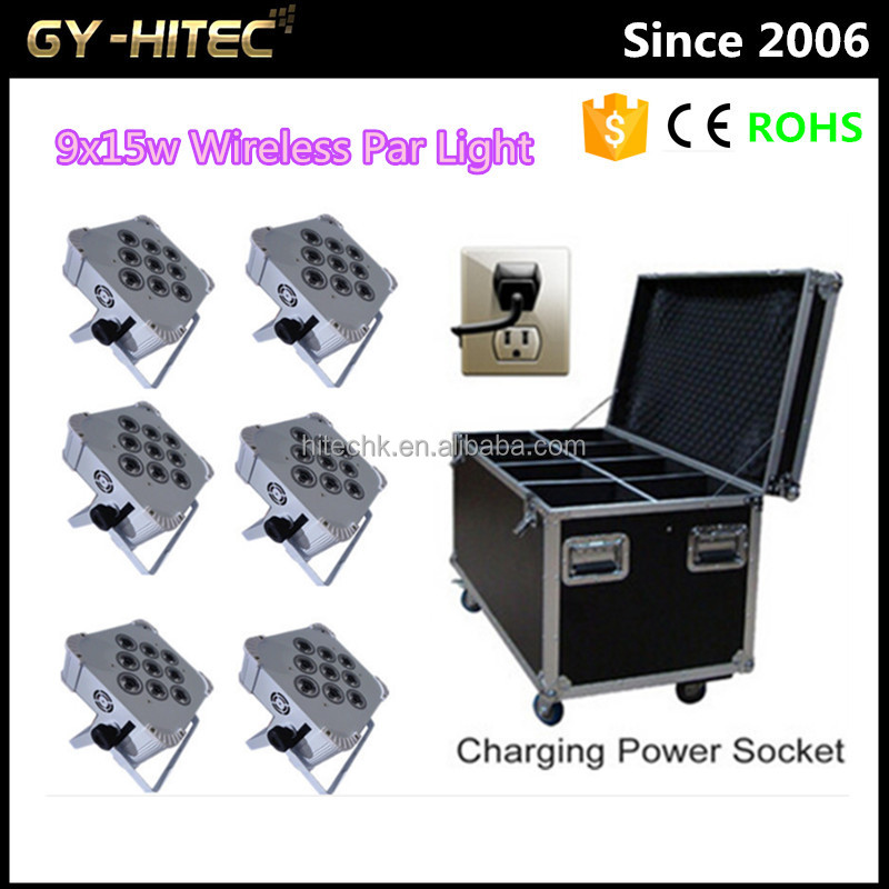 Factory sale lighting cheap wireless dmx led wall washer 9x15w uplighting