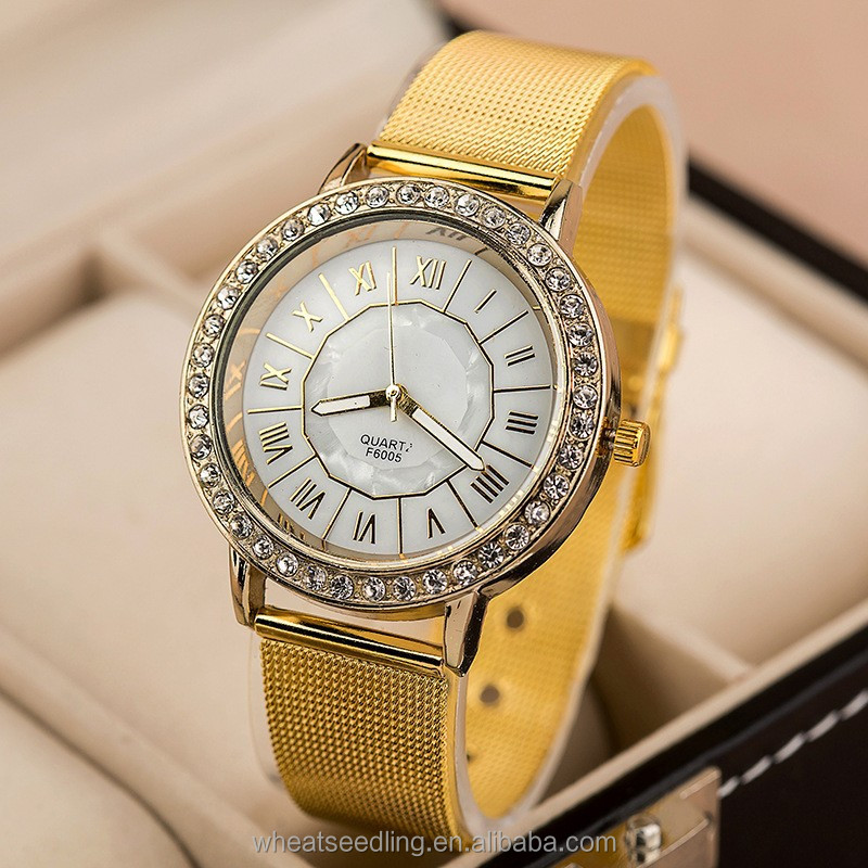 vogue simple stainless steel golden classic watches watches ladies women ladies fancy watches