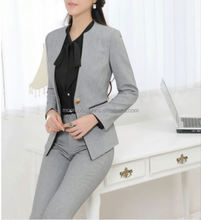 Monroo elegant office formal suits for plus size women trendy business suits for women 2018 newest style