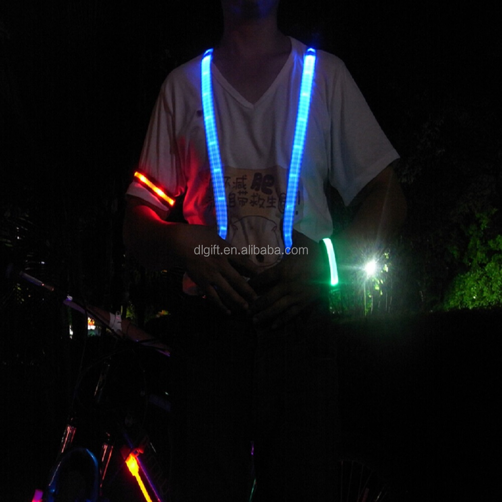 Flexible Active Sports Reflective Safety Vest Running led vest