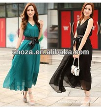 C60650A FASHION KOREAN STYLE HOT SALE BOHEMIA WOMEN'S CHIFFON MAXI DRESSES