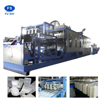 industrial Continuous ps thermocol foam food box plate making machine ,egg tray production line