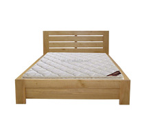 solid wood natural wood color bed