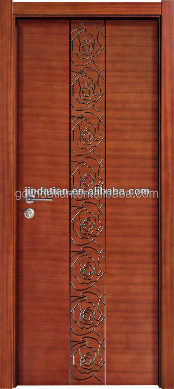 Modern single swing interior wood door design for villa