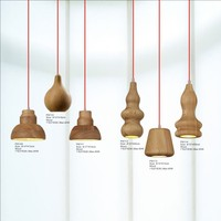 Modern Wooden Hanging Light Pendant Chandelier Lamp for Loft Decoration