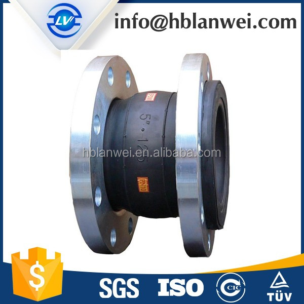 Pipeline Fittings DIN Standard Flange Single Sphere Rubber Bridge Expansion Joints