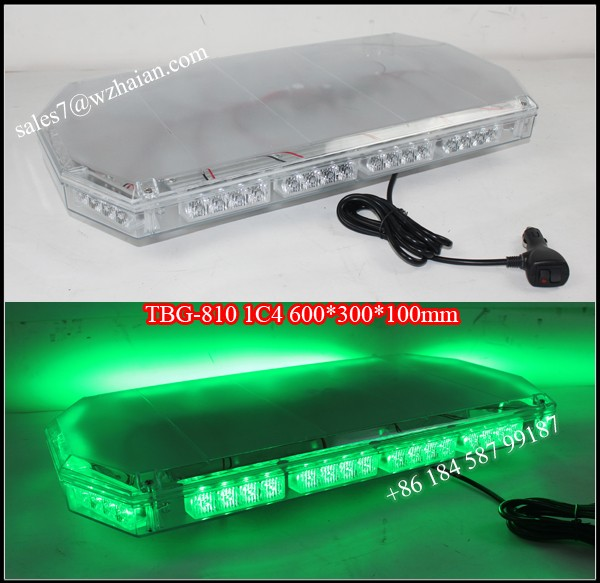 Led Gen 1w Green Strobe Warning Beacon Bar/12v Emergency Flash LED Mini Lightbar TBG-810 1C4