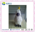 High quality Repeat talking white Parrot soft plush toy