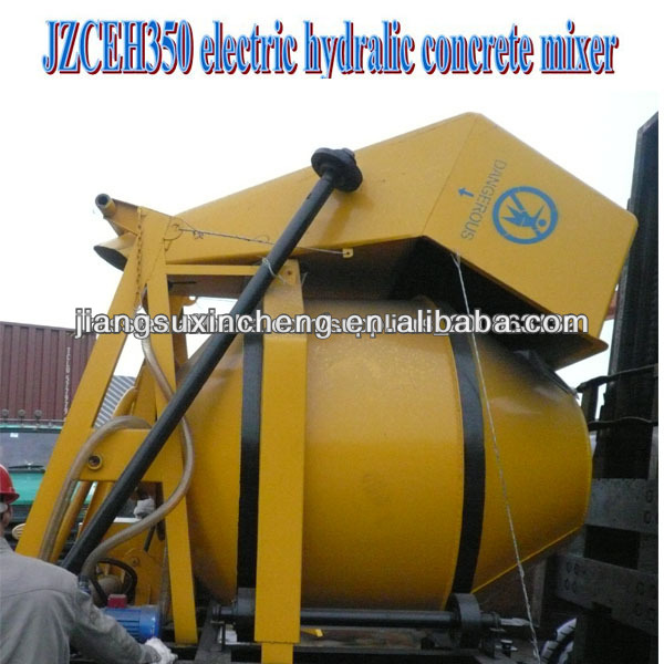 JZCEH350 electric hydraulic arm concrete mixer
