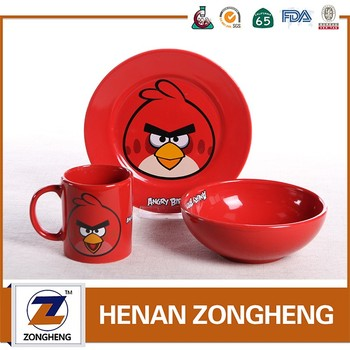 New Design Procelain Kid Dinnerware Set with Cute Style