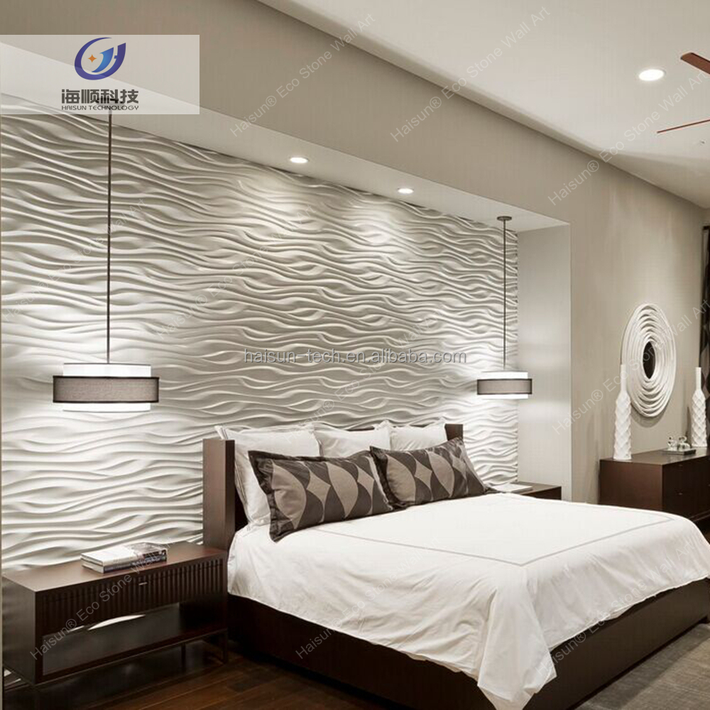 Bedroom decorative wall art 3D relief stone board