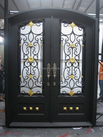 Eyebrow Wrought Iron Double Door Design