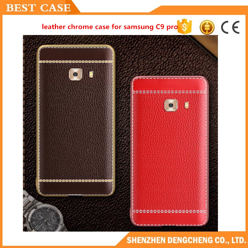 leather chrome case For Samsung Galaxy C9 Pro cover Case Super Frosted Shield matte soft back cover case for Samsung C9 Pro