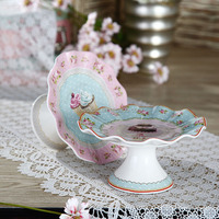 6.25 Inches Elegant Unique Shaped Cake Stand with Color Box