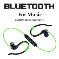 Low MOQ Wireless sports bluetooth earphone BT4.1 stereo ear hook Heavy bass headphones