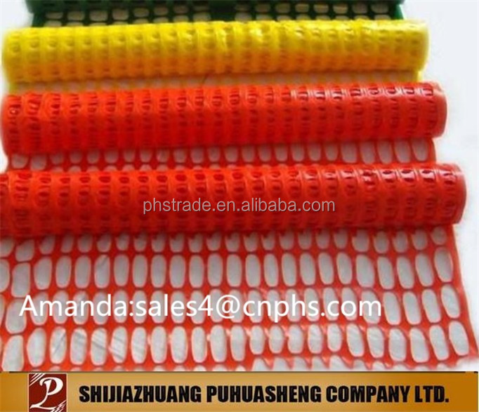 high strength Orange plastic construction safety net