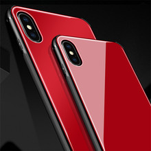 Factory Price Tempered Glass <strong>Case</strong> TPU Hybrid Protective Mobile Phone <strong>Case</strong> For iPhone X 6 7 8
